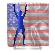 Usa Winner Background Shower Curtain