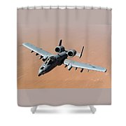 Usaf A-10 Thunderbolt II Over Afghanistan  Shower Curtain