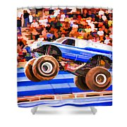 Usaf Afterburner Monster Jam Shower Curtain