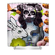 Usagicatrina Shower Curtain