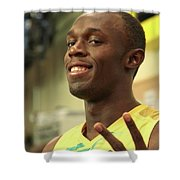 Usain Bolt  Shower Curtain