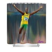 Usain Bolt 2008 Shower Curtain