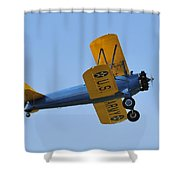 U.s.army Biplane Shower Curtain