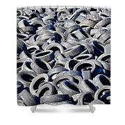 Used Tires Shower Curtain