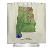 Usgs Map Of Alabama Shower Curtain