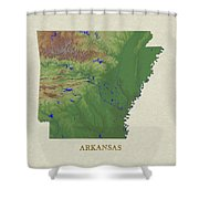 Usgs Map Of Arkansas Shower Curtain