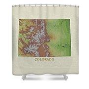 Usgs Map Of Colorado Shower Curtain