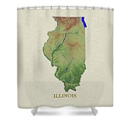 Usgs Map Of Illinois Shower Curtain
