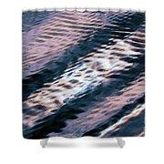 Ushuaia Ar - Ocean Ripples 1 Shower Curtain