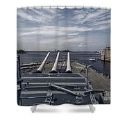 Uss #64 Wisconsin Shower Curtain