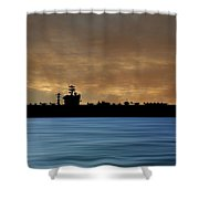 Uss Abraham Lincoln 1988 V2 Shower Curtain