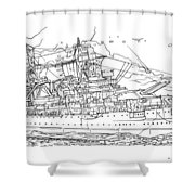 Uss Arizona Shower Curtain