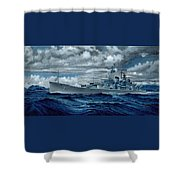 Uss Canberra Cag-2  Shower Curtain
