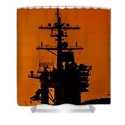 Uss Carl Vinson At Sunset 2 Shower Curtain