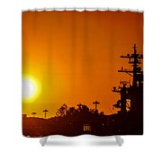 Uss Carl Vinson At Sunset 3 Shower Curtain