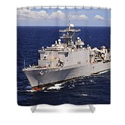 Uss Comstock Transits The Indian Ocean Shower Curtain