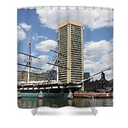 Uss Constellation - Baltimore Inner Harbor Shower Curtain