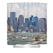 Uss Constitution Boston Cruise Shower Curtain by Susan Cole Kelly