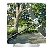 Uss Maine Anchor Shower Curtain