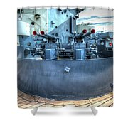 Uss North Carolina, Bb 55, 40mm Guns Shower Curtain