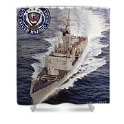 Uss Oliver Hazard Perry Shower Curtain