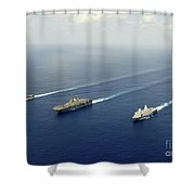 Uss Pearl Harbor, Uss Makin Island Shower Curtain