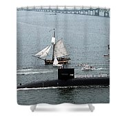 Uss Rhode Island Shower Curtain