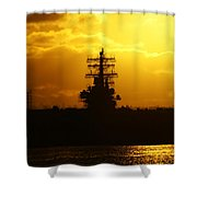 Uss Ronald Reagan Shower Curtain