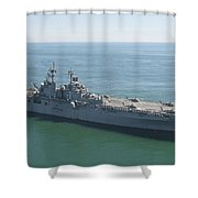 Uss Wasp And Uss San Antonio Transit Shower Curtain