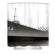 Uss Wisconsin - Port-side Shower Curtain