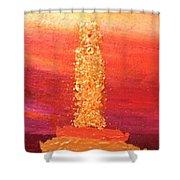 Ut Tower Shower Curtain