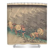 Utagawa Hiroshige    Shno Hakuuwhite Rain At Shno Shower Curtain