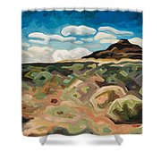 Utah Hill #6 Shower Curtain