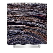 Utah Juniper Root Detail Shower Curtain