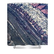 Utah Mountains High Altitiude Aerial Photo Shower Curtain