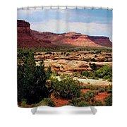 Utah Plateau Mtn M 303 Shower Curtain