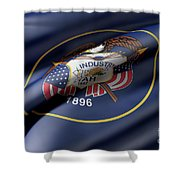 Utah State Flag Shower Curtain