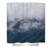 Ute Pass As Storm Clouds And Fog Roll In  Shower Curtain