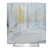 Ute Winter Camp Shower Curtain