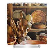 Utensils - Remembering Momma Shower Curtain