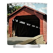 Utica Mills Covered Bridge Shower Curtain