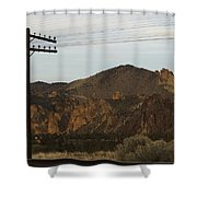 Utility Pole Shower Curtain