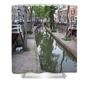 Utrecht Canal Shower Curtain