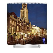 Utrecht Cathedral At Night Shower Curtain