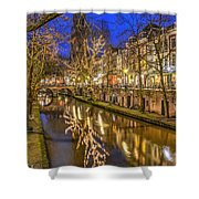 Utrecht Old Canal By Night Shower Curtain