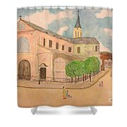 Utrillo And Church Seasonal Change In Paris By Japanese Artist Shower Curtain