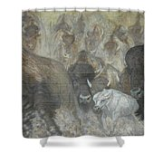 Uttc - Buffalo Mural Left Panel Shower Curtain