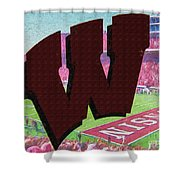 Uw Game Day Poster - Oil Shower Curtain