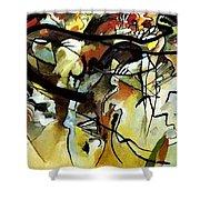 V 1911 Vasily Kandinsky Shower Curtain