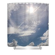 V Cloud Under The Sun  Shower Curtain